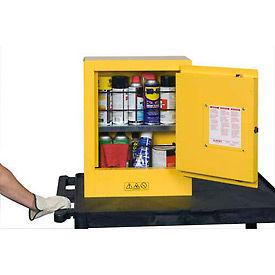 "Justrite Mini Flammable Cabinet 17""x8""x22"" Yellow"