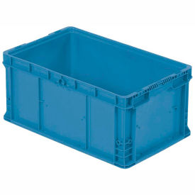 """ORBIS Stakpak NXO2415-11.5 Modular Straight Wall Container, 24""""L x 15""""W x 11-1/2""""H, Blue"""