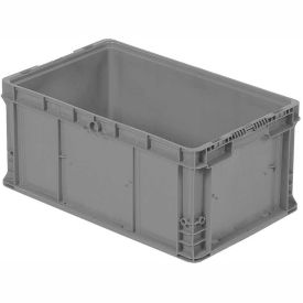 """ORBIS Stakpak NSO2415-11.5 Modular Straight Wall Container, 24""""L x 15""""W x 11-1/2""""H, Gray"""