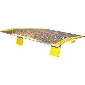 B & P Aluminum Dock Plate EH4848 48x48 3800 Lb. Cap with Handles