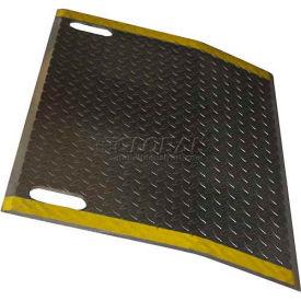 B & P Aluminum Dock Plate E4848-HS 48x48 2600 Lb. Cap with Hand Slots