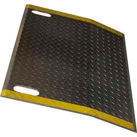 B & P Aluminum Dock Plate EH4848-HS 48x48 4300 Lb. Cap with Hand Slots