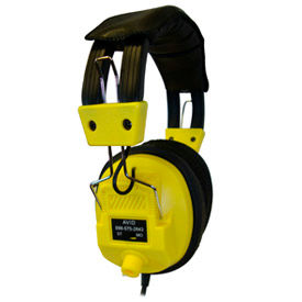 Stereo/Mono Headphones with Plug Adaptor & Volume Control Yellow