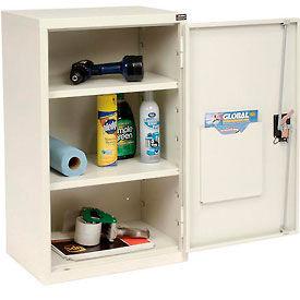 "Global™ Wall Storage Cabinet Assembled 19-7/8""W x 14-1/4""D x 32-3/4""H White"