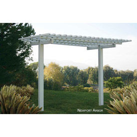 Outdoor Vinly Newport Extendable Pergola, White