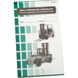 Replacement Checklist 70-1075 for IRONguard Propane Counterbalance Forklift Checklist Caddy