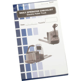 Replacement Checklist 70-1078 for IRONguard Electric Pallet Truck Checklist Caddy