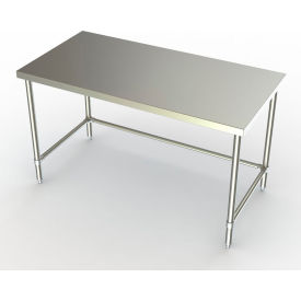 """Aero Manufacturing 3TSX-30 60""""W x 30""""D Adjustable Height Stainless Steel Work Bench w/ Crossbracing"""