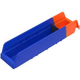 Akro-Mils Indicator® 36448 Two Tone Double Hopper Plastic Shelf Bin 4-1/8 x 17-7/8 x 4 - Pkg Qty 12