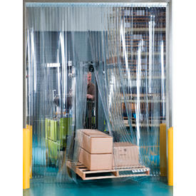 """Aleco® Visi-Guard Strip Door 456019 12' x 8' with 12"""" Strips"""