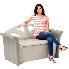 Rubbermaid 3764 Outdoor Patio Bench Storage Deck Box 4 Cubic Feet