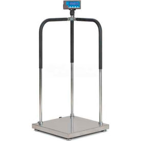 "Brecknell MS140-300 Portable Medical Electronic Physician Scale, 660lb x 0.2lb, 20-1/2"" x 20-1/2"""