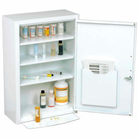 """Global™ Medicine Cabinet With Pull Out Shelf 18""""W X 8""""D X 27""""H, White"""