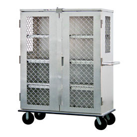 New Age 99814 Aluminum Amplimesh Security Cage Truck 57-1/4 x 28-1/4 x 74-1/2