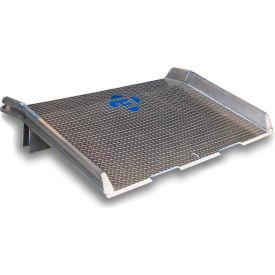 Bluff® Speedy Board® Aluminum Dock Board, Welded Aluminum Curb 15ATD6060 60x60 15,000 Lb.