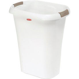 Rubbermaid® Liner Lock™ Wastebasket 5l60 - 32 Quart, White