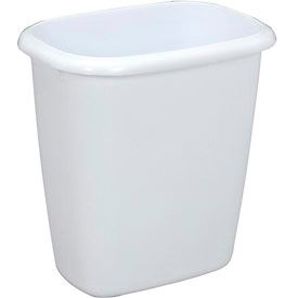 Rubbermaid® Vanity Wastebasket 2958 14 Quart, White