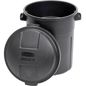 Rubbermaid® Roughneck™ Refuse Container 2892- 20 Gallon, Black