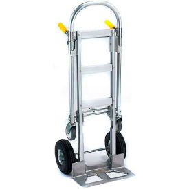 Wesco Spartan Jr. Aluminum 2-in-1 Hand Truck Pneumatic Wheels