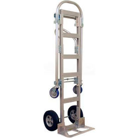 Wesco Spartan Sr. Aluminum 2-in-1 Hand Truck Rubber Wheels