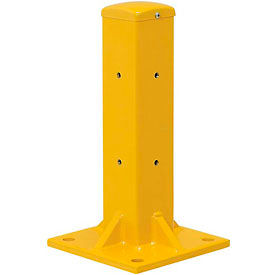 "18""H Protective Rail Barrier Post For Single Rail"