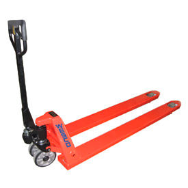 "Wesco Extra Long Fork Pallet Truck with 78""L Forks 4400 Lb. Capacity"