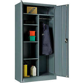 """Global™ Combination Cabinet Cabinet Assembled 36""""W x 18""""D x 72""""H Gray"""