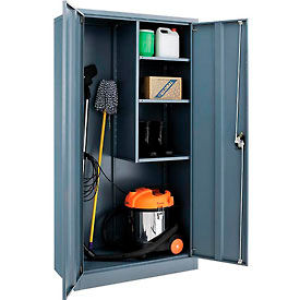 Global™ Janitorial Cabinet Assembled 36x18x72 Gray