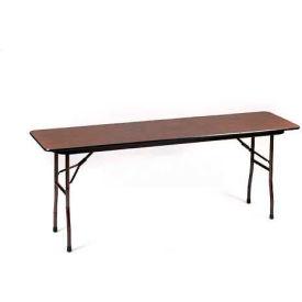 "Correll Folding Seminar Table - Melamine - 18"" x 72"", Walnut"
