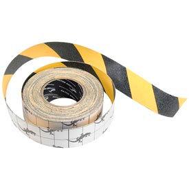 "Anti-Slip Traction Yellow/Black Hazard Striped Tape Roll, 2"" x 60 Feet"