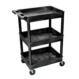 purchase luxor tray top shelf utility cart stc111 with. Black Bedroom Furniture Sets. Home Design Ideas