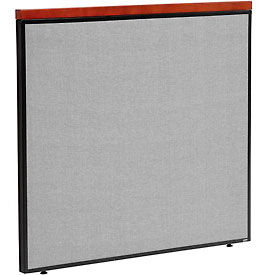 """Deluxe Office Partition Panel, 48-1/4""""W x 43-1/2""""H, Gray"""