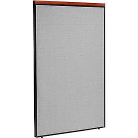 "Deluxe Office Partition Panel, 48-1/4""W x 73-1/2""H, Gray"