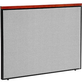 """Deluxe Office Partition Panel, 60-1/4""""W x 43-1/2""""H, Gray"""