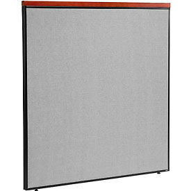 "Deluxe Office Partition Panel, 60-1/4""W x 61-1/2""H, Gray"