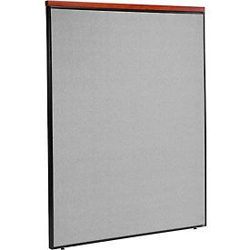 """Deluxe Office Partition Panel, 60-1/4""""W x 73-1/2""""H, Gray"""