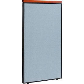 """Deluxe Office Partition Panel, 36-1/4""""W x 61-1/2""""H, Blue"""