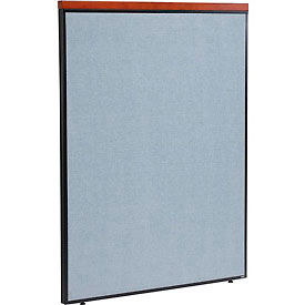 """Deluxe Office Partition Panel, 48-1/4""""W x 61-1/2""""H, Blue"""