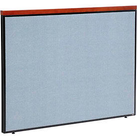 """Deluxe Office Partition Panel, 60-1/4""""W x 43-1/2""""H, Blue"""