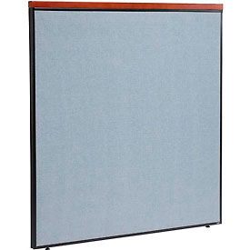 """Deluxe Office Partition Panel, 60-1/4""""W x 61-1/2""""H, Blue"""