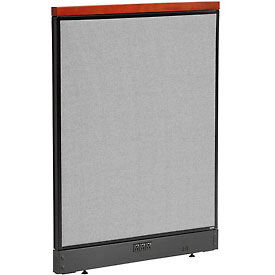 """Deluxe Electric Office Partition Panel, 36-1/4""""W x 47-1/2""""H, Gray"""