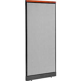 """Deluxe Electric Office Partition Panel, 36-1/4""""W x 77-1/2""""H, Gray"""