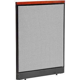 """Deluxe Office Partition Panel with Pass Thru Cable, 36-1/4""""W x 47-1/2""""H, Gray"""