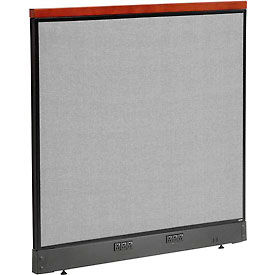 """Deluxe Electric Office Partition Panel, 48-1/4""""W x 47-1/2""""H, Gray"""