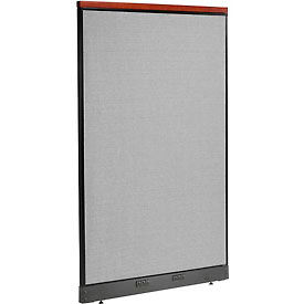 """Deluxe Electric Office Partition Panel, 48-1/4""""W x 77-1/2""""H, Gray"""