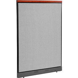 """Deluxe Office Partition Panel with Pass Thru Cable, 48-1/4""""W x 65-1/2""""H, Gray"""