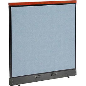 """Deluxe Electric Office Partition Panel, 48-1/4""""W x 47-1/2""""H, Blue"""