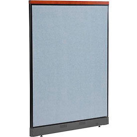 """Deluxe Non-Electric Office Partition Panel with Raceway, 48-1/4""""W x 65-1/2""""H, Blue"""
