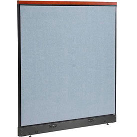 """Deluxe Electric Office Partition Panel, 60-1/4""""W x 65-1/2""""H, Blue"""