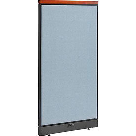 "Deluxe Electric Office Partition Panel, 36-1/4""W x 65-1/2""H, Blue"